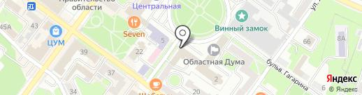 Отдел надзорной деятельности по г. Брянску на карте Брянска