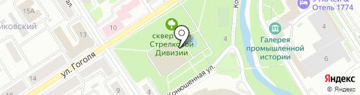 Петрозаводск на карте Петрозаводска