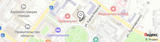 Управление Федеральной службы по надзору в сфере связи, информационных технологий и массовых коммуникаций по Брянской области на карте Брянска
