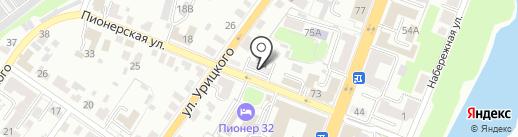 Баня №5 на карте Брянска
