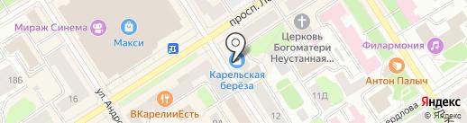 Праздник тут! на карте Петрозаводска