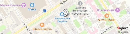 Автострада на карте Петрозаводска
