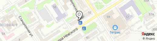 Магазин одежды и чулочно-носочных изделий на карте Петрозаводска