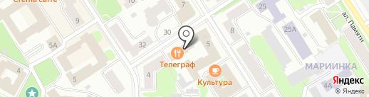 Ростелеком Бизнес на карте Петрозаводска