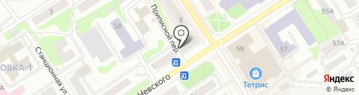 Лак на карте Петрозаводска