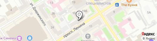 Нэль на карте Петрозаводска