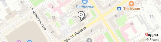 Беломорье на карте Петрозаводска