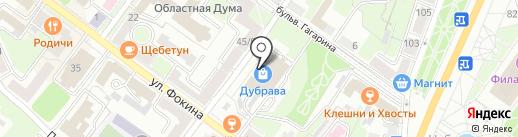 Магазин часов на карте Брянска