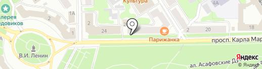 Петровский Алко на карте Петрозаводска
