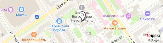 ПКС-тепловые сети на карте Петрозаводска