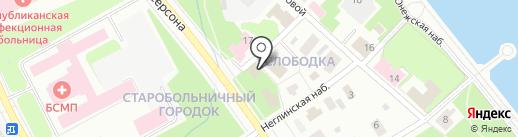 Храм Святого и Животворящего Духа на карте Петрозаводска