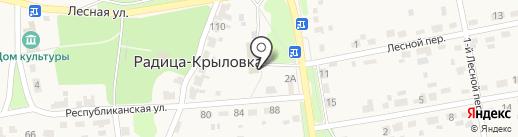 Отдел по работе с населением д. Радица г. Брянска на карте Брянска