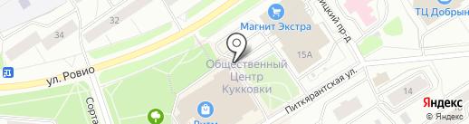 Кукковский на карте Петрозаводска