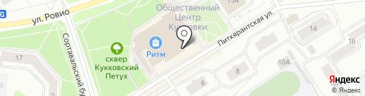 Дельмар на карте Петрозаводска