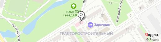 Кабинет психотерапевта Лещёвой К.Ю. на карте Петрозаводска