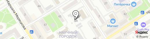 Ютос на карте Петрозаводска