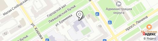 Гимназия №30 им. Д.Н. Музалева на карте Петрозаводска