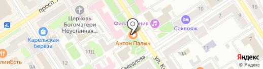 Антон Палыч на карте Петрозаводска