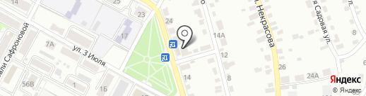 Монумент на карте Брянска