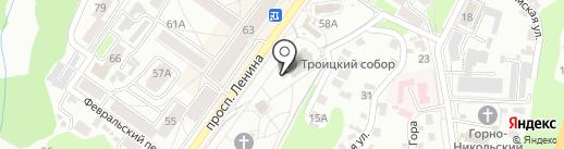 Брянский кафедральный собор во имя Святой Троицы на карте Брянска