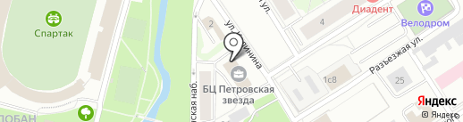 Копистар на карте Петрозаводска