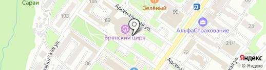 Брянский государственный цирк на карте Брянска