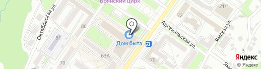 Автошкола 32 на карте Брянска