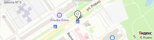 Киоск по продаже овощей и фрукто на карте Петрозаводска