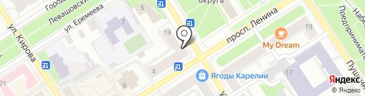 Магазин тканей и штор на карте Петрозаводска