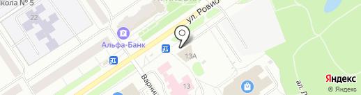 Журавли на карте Петрозаводска