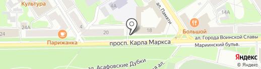 Часовня во имя святых благоверных Петра и Февронии Муромских на карте Петрозаводска