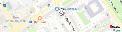 Салон авторской одежды на карте Петрозаводска