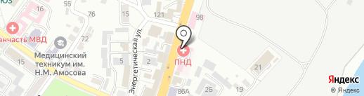 Брянский областной психоневрологический диспансер на карте Брянска