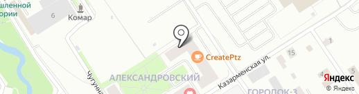 Александровский на карте Петрозаводска