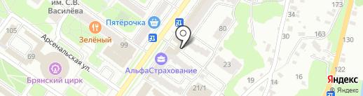 Брянскгорстройзаказчик, МУП на карте Брянска
