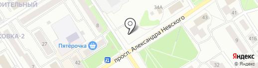 Богатырская Шаверма на карте Петрозаводска