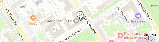 Центральная избирательная комиссия Республики Карелия на карте Петрозаводска
