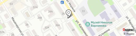 Киоск по ремонту обуви на карте Петрозаводска