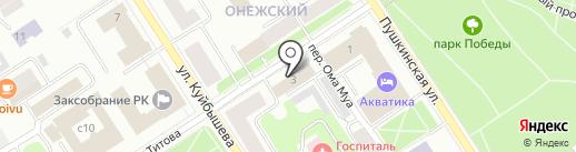 Информационный туристский центр Республики Карелия на карте Петрозаводска