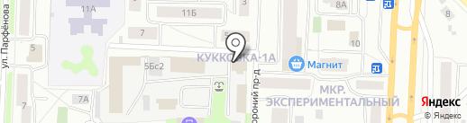 Гарант на карте Петрозаводска