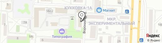 Лучик на карте Петрозаводска