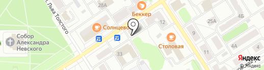 Камень памяти на карте Петрозаводска