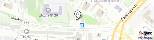 Шиномонтажная мастерская на Балтийской на карте Петрозаводска