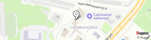 Дом на скале, АНО на карте Петрозаводска