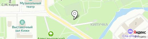 Ниагара на карте Петрозаводска
