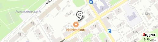На Невском 12 на карте Петрозаводска