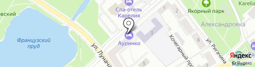 Ауринко на карте Петрозаводска