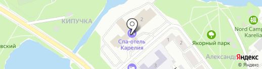 Турхолдинг Карелия на карте Петрозаводска