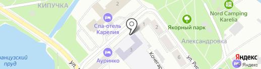 Средняя общеобразовательная школа №25 на карте Петрозаводска