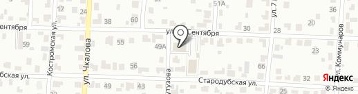 Протестантская церковь Вознесение Христово на карте Брянска